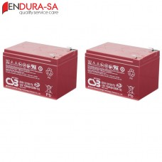 Endura 15Amp/h - 12V Battery Set (Lead Acid)